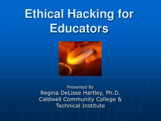Ethical Hacking for Educators