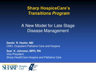 Sharp HospiceCare's Transitions Program