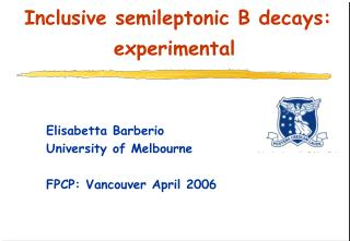 Inclusive semileptonic B decays: experimental