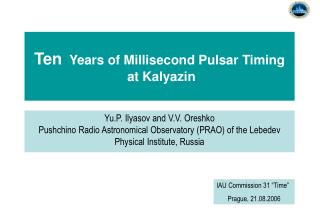 Ten   Years of Millisecond Pulsar Timing   at Kalyazin
