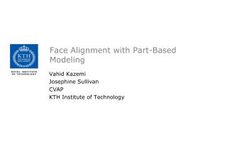 Face Alignment with Part-Based Modeling