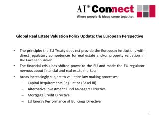 Global Real Estate Valuation Policy Update: the European Perspective