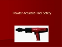 Powder Actuated Tool Safety