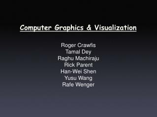 Computer Graphics & Visualization