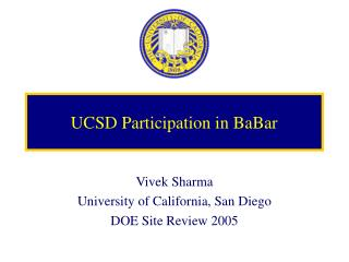 UCSD Participation in BaBar