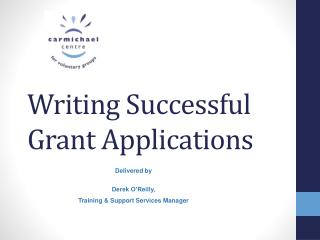 Writing Successful Grant Applications