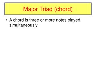 Major Triad (chord)
