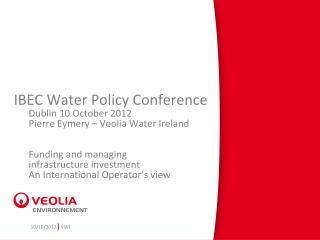 IBEC Water Policy Conference