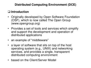 Distributed Computing Environment (DCE)