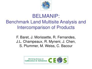 BELMANIP: Benchmark Land Multisite Analysis and Intercomparison of Products