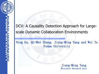 DCV: A Causality Detection Approach for Large-scale Dynamic Collaboration Environments