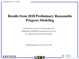 Results from 2018 Preliminary Reasonable Progress Modeling