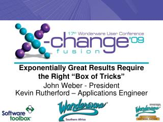 "Exponentially Great Results Require the Right ""Box of Tricks"""