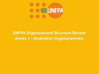 UNFPA Organizational Structure Review  Annex 1 -  Illustrative Organigrammes