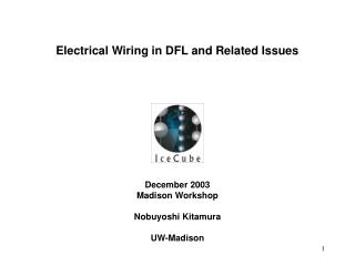 Electrical Wiring in DFL and Related Issues