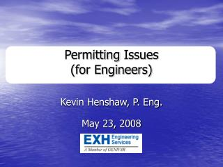 Permitting Issues (for Engineers)
