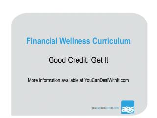 Financial Wellness Curriculum