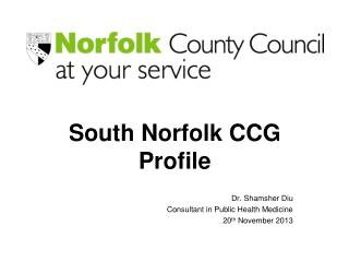 South Norfolk CCG Profile