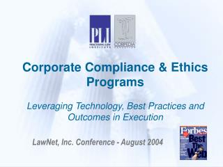 LawNet, Inc. Conference - August 2004