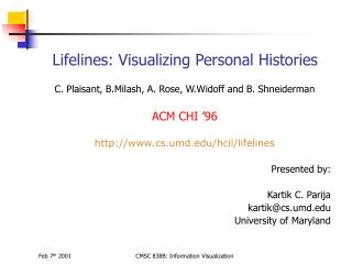 Lifelines: Visualizing Personal Histories