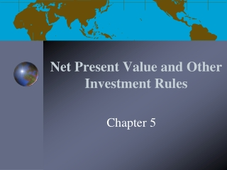 Net Present Value and Other Investment Rules