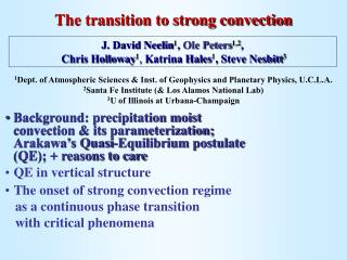 The transition to strong convection
