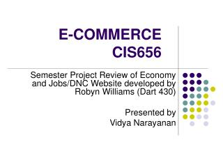 E-COMMERCE CIS656