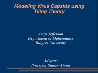 Modeling Virus Capsids using Tiling Theory