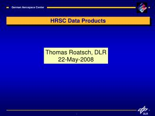 HRSC Data Products