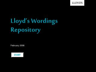 Lloyd's Wordings Repository