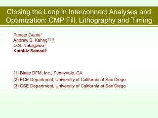 Closing the Loop in Interconnect Analyses and Optimization: CMP Fill, Lithography and Timing