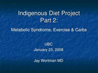Metabolic Syndrome, Exercise & Carbs
