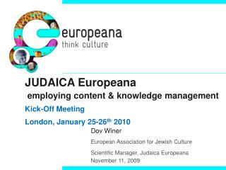 Dov Winer European Association for Jewish Culture