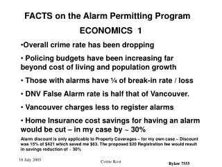 ECONOMICS  1 Overall crime rate has been dropping