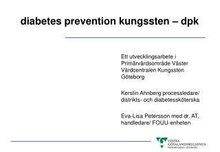 diabetes prevention kungssten – dpk