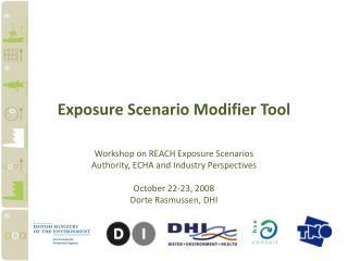 Exposure Scenario Modifier Tool