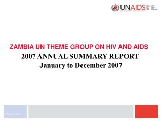 ZAMBIA UN THEME GROUP ON HIV AND AIDS