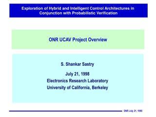 ONR UCAV Project Overview