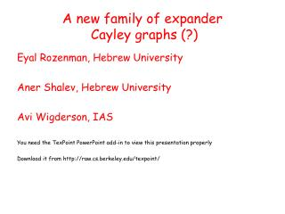 A new family of expander  Cayley graphs (?)