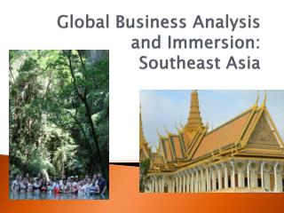 Global Business Analysis and Immersion: Southeast Asia