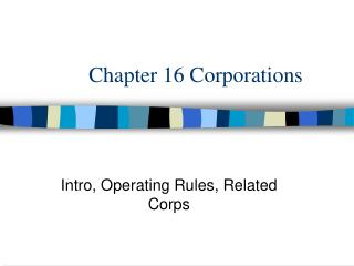 Chapter 16 Corporations