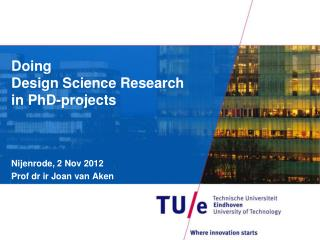 Doing  Design Science Research in PhD-projects