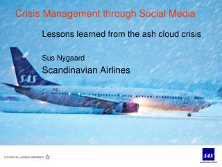 Crisis Management through Social Media