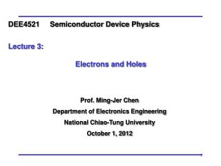 Prof. Ming-Jer Chen Department of Electronics Engineering National Chiao-Tung University
