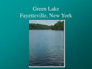 Green Lake Fayetteville, New York