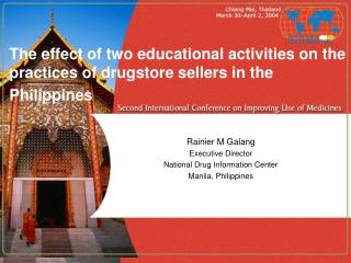 The effect of two educational activities on the practices of drugstore sellers in the Philippines