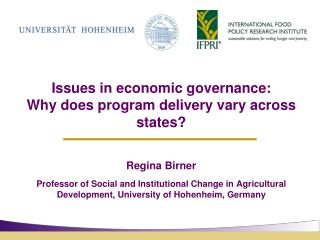 Issues in economic governance: Why does program delivery vary across states?