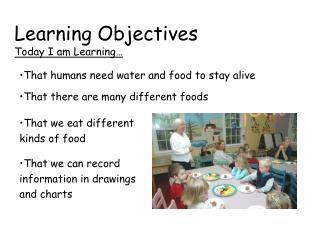Learning Objectives Today I am Learning