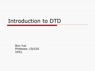 Introduction to DTD