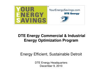 DTE Energy Commercial & Industrial Energy Optimization Program